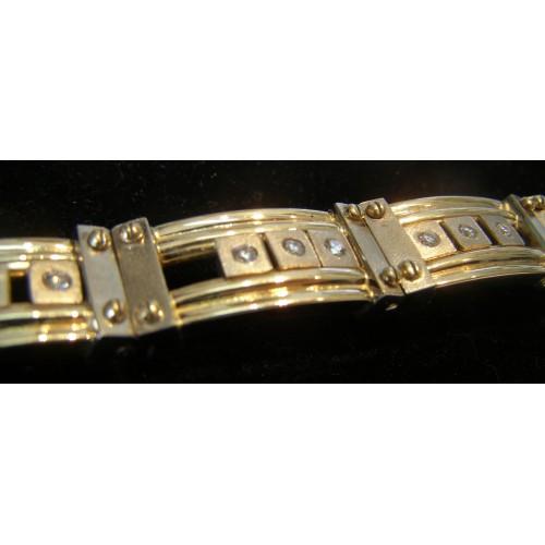 Bransoletka złota z diamentami